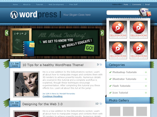 Preview Blues WP theme