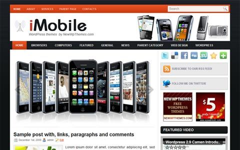 iMobile wp Template