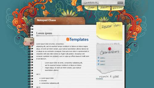 Notepad Chaos wp Template