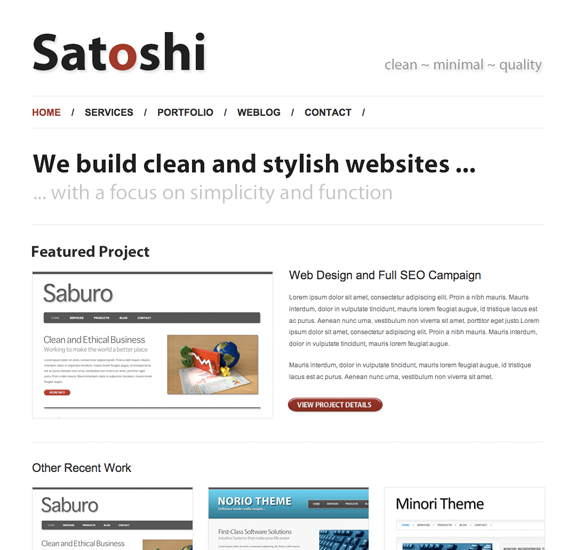 satoshi wp template