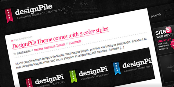 Design Pile wp Template