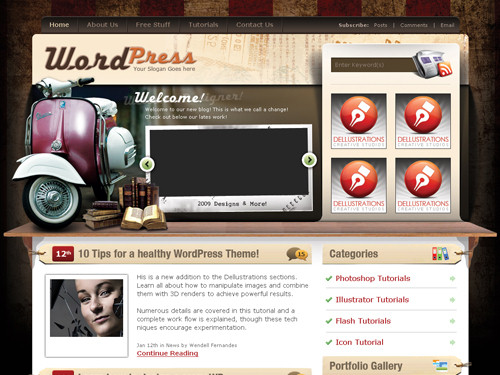 25 of the best free wordpress templates - Makis.TV