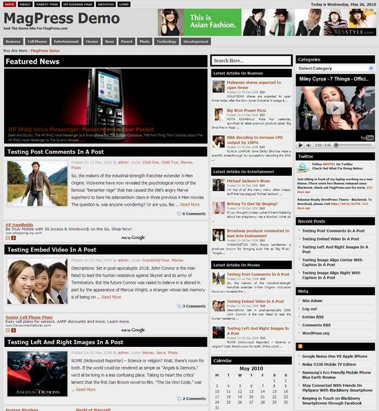 coremag wordpress template