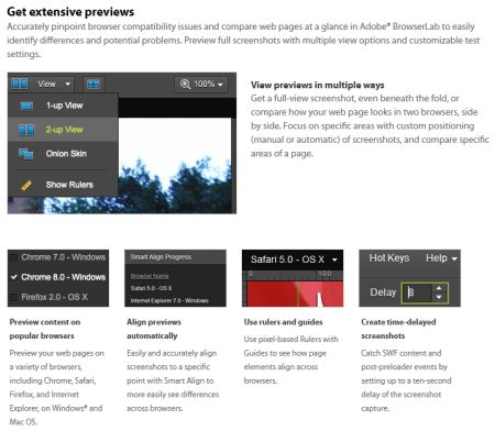 adobe browser lab official website screenshot