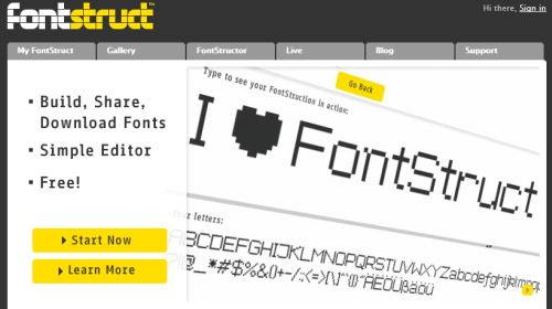 Fontstruct website screenshot