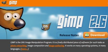 gimp official website screenshot