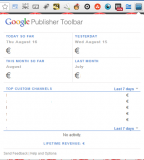 Adsense reporting on the fly using Chrome plugin by Google
