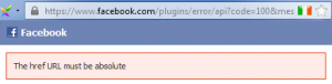 href URL must be absolute fb like button error