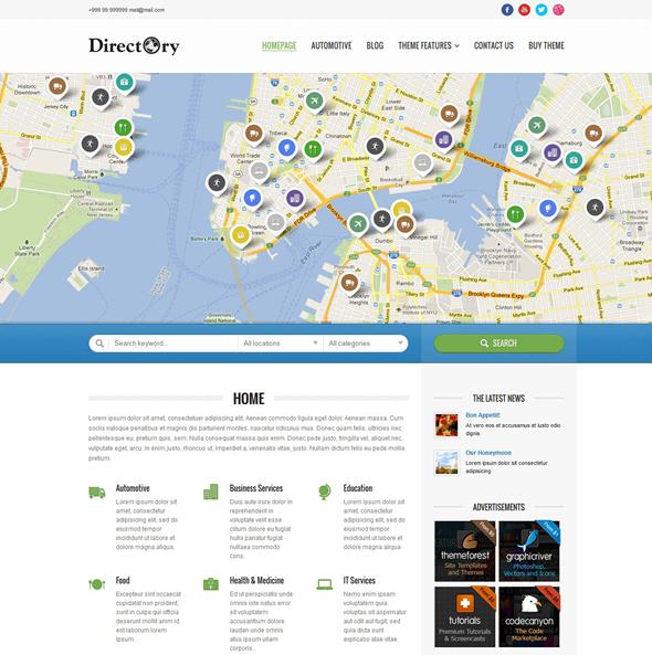 Directory Portal Theme Preview