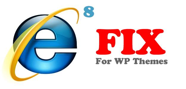 IE8 fix for WordPress theme header